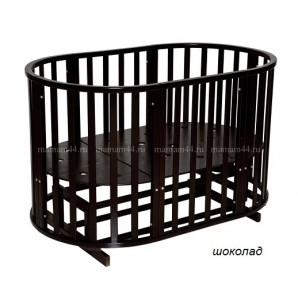 Кругло-овальная кровать Антел Северянка-3 6в1 универсальный маятник